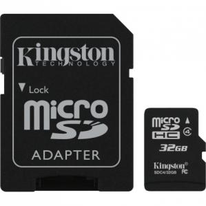 microSDHC 32GB Kingston G2 Class 10 w/a (EU Blister)