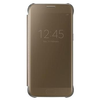 EF-ZG930CFE Samsung Clear View Pouzdro Gold pro G930 Galaxy S7 (EU Blister)