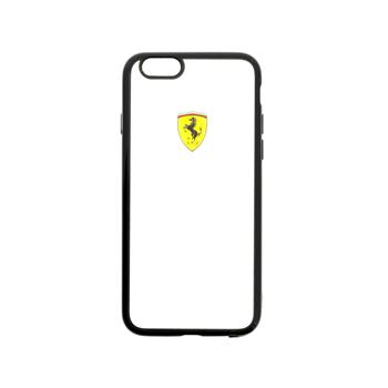 FEHCP6BK Ferrari Racing TPU Pouzdro Transparent Black pro iPhone 6/6S