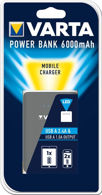 VARTA Power Bank Dual USB 6000mAh