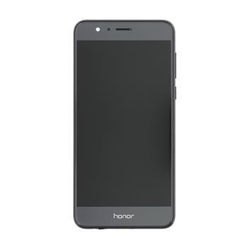 Honor 8 LCD Display + Dotyková Deska + Přední Kryt Black (Service Pack)
