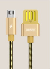 Remax RC-080m Serpent Datový Kabel microUSB Gold