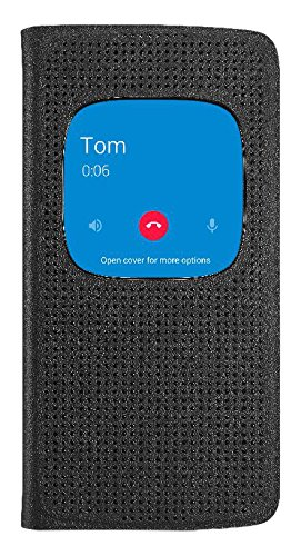 Alcatel Original MF6055 Matrix Flip Case Black for Idol 4