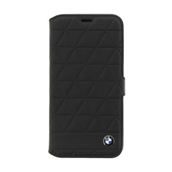 BMFLBKPXHEXBK BMW Hexagon Leather Book Case Black pro iPhone X / XS