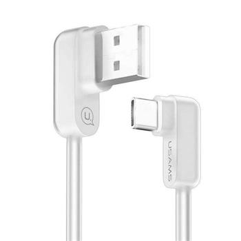 USAMS SJ167 Datový Kabel Type C U-Flow White (EU Blister)