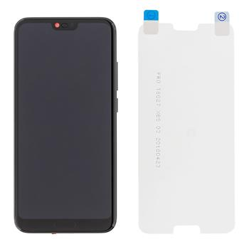Honor 10 LCD Display + Dotyková Deska + Přední Kryt Black (Service Pack)