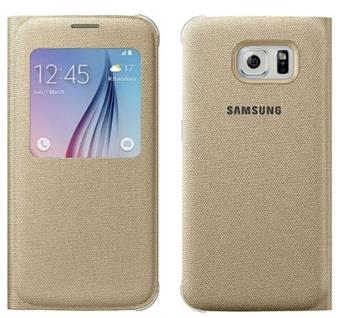 EF-CG920BFE Samsung S-View Pouzdro Gold pro G920 Galaxy S6 (EU Blister)