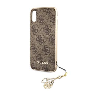 GUHCI61GF4GBR Guess Charms Hard Case 4G Brown pro iPhone XR