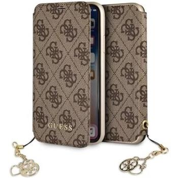 GUFLBKI65GF4GBR Guess Charms Book Case 4G Brown for iPhone