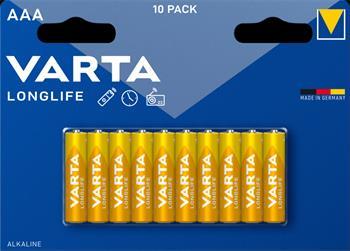 Varta Longlife AAA Baterie 10ks