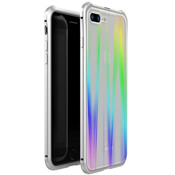 Luphie Aurora Magnet Hard Case Glass Silver/White pro iPhone 7/8 Plus