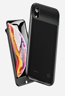 USAMS US-CD68 Power Case 4000mAh Black pro iPhone XR (EU Blister)