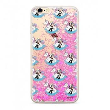 Disney Minnie 030 Glitter Back Cover Pink pro iPhone X