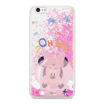 Disney Minnie 046 Glitter Back Cover Pink pro iPhone 6/6S/7/8