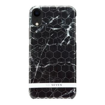 SoSeven Fashion Milan Hexagonal Marble Black/Silver pro iPhone XR