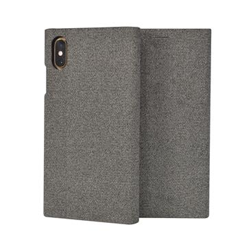 SoSeven Premium Gentleman Book Case Fabric Grey pro iPhone XS Max