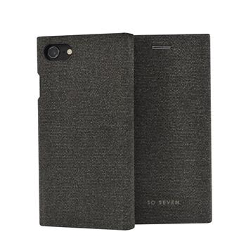 SoSeven Premium Gentleman Book Case Fabric Anthracite pro iPhone 6/6S/7/8 Plus