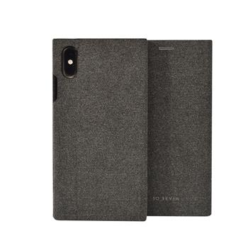 SoSeven Premium Gentleman Book Case Fabric Anthracite pro iPhone XS Max