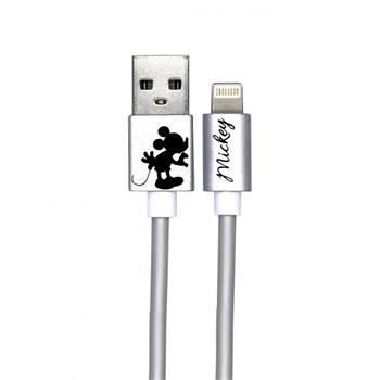 Disney Mickey Lightning Datový Kabel Kissing Alone Silver (EU Blister)
