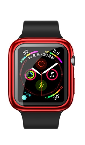 USAMS BH486 TPU Full Protective Pouzdro pro Apple Watch 44mm Red (EU Blister)