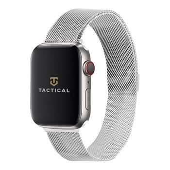 Tactical 338 Loop Magnetický Kovový Řemínek pro Apple Watch 1/2/3/4/5/6/SE 38/40mm Silver