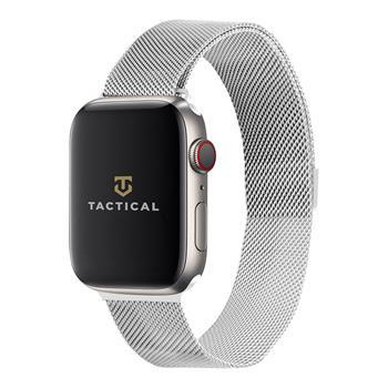 Tactical 356 Loop Magnetický Kovový Řemínek pro Apple Watch 1/2/3/4/5/6/SE 42/44mm Silver