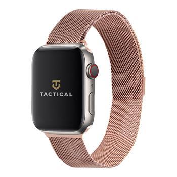 Tactical 355 Loop Magnetický Kovový Řemínek pro Apple Watch 1/2/3/4/5/6/SE 42/44mm Rose Gold