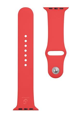 Tactical 498 Silikonový Řemínek pro Apple Watch 1/2/3/4/5/6/SE 42/44mm Red