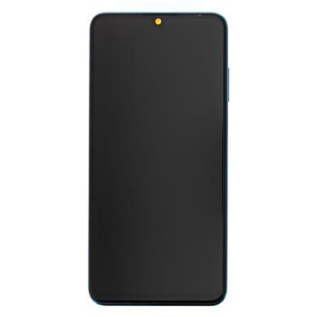 Huawei  P30 Lite LCD Display + Dotyková Deska + Přední Kryt Blue (pro 24MP foto)