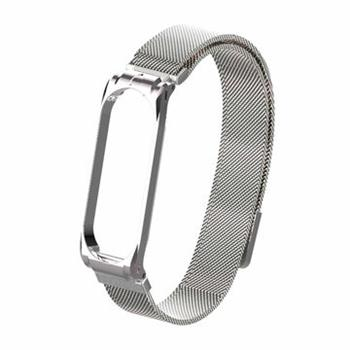 Tactical 380 Loop Magnetic Steel Band for Xiaomi Mi Band 3/4 Silver (EU Blister)