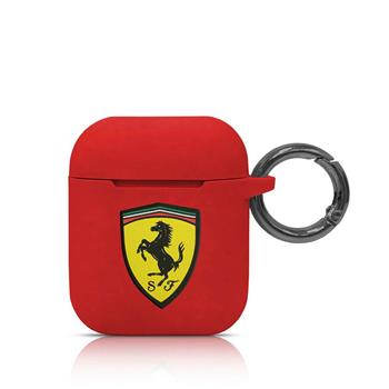 FESACCSILSHRE Ferrari Silikonové Pouzdro pro Airpods 1/2 Red