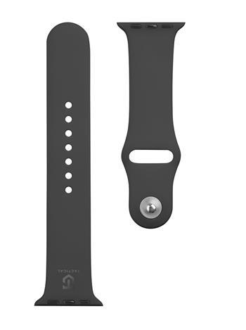 Tactical 456 Silikonový Řemínek pro Apple Watch 1/2/3/4/5/6/SE 38/40mm Black