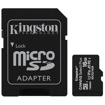 microSDHC 16GB Kingston Canvas Select + w/a