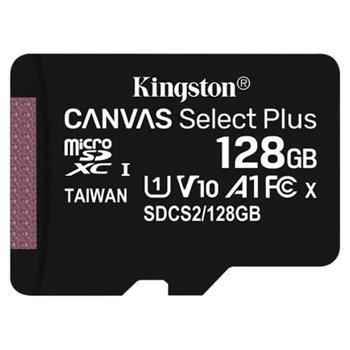 microSDHC 128GB Kingston Canvas Select + wo/a (EU Blister)
