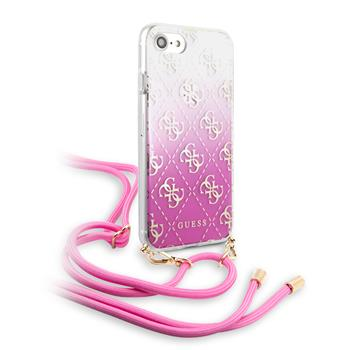 GUHCI8WO4GPI Guess 4G Electroplated Kryt pro iPhone 8/SE2020 Pink
