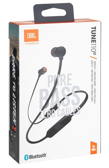 JBL T110BT In Ear Bluetooth Headset Black