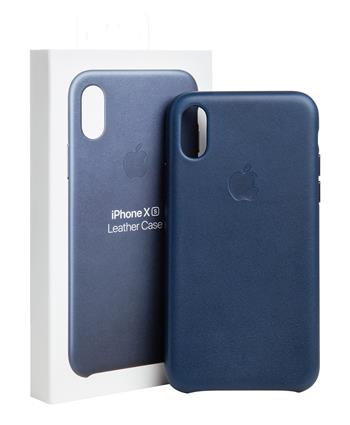 MRWN2ZM/A Apple Kožený Kryt pro iPhone X/XS Midnight Blue (EU Blister)
