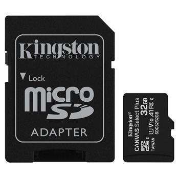 microSDHC 32GB Kingston Canvas Select + w/a