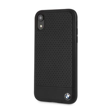 BMHCI61PEBOBK BMW Perforated Leather Hard Case pro iPhone XR Black