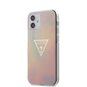 GUHCP12SPCUMCGG01 Guess PC/TPU T&D Gold Triangle 01 Zadní Kryt pro iPhone 12 mini 5.4 Pink