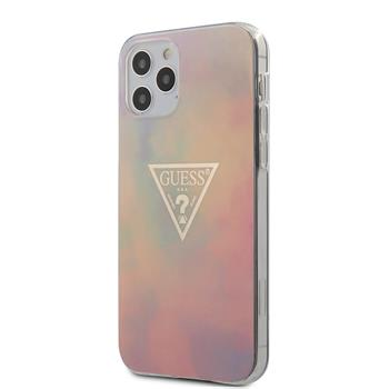 GUHCP12MPCUMCGG01 Guess PC/TPU T&D Gold Triangle 01 Zadní Kryt pro iPhone 12/12 Pro 6.1 Pink