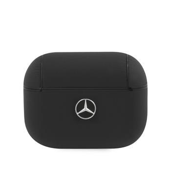 MEAPCSLBK Mercedes Kožené Pouzdro pro AirPods Pro Black