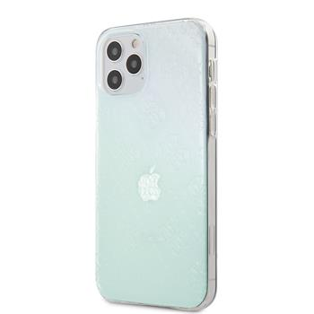 GUHCP12L3D4GIRBL Guess 3D Raised Zadní Kryt pro iPhone 12 Pro Max 6.7 Iridescent