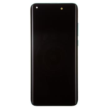 LCD Display + Dotyková Deska + Přední Kryt pro Xiaomi Mi 10 Green (Service Pack)