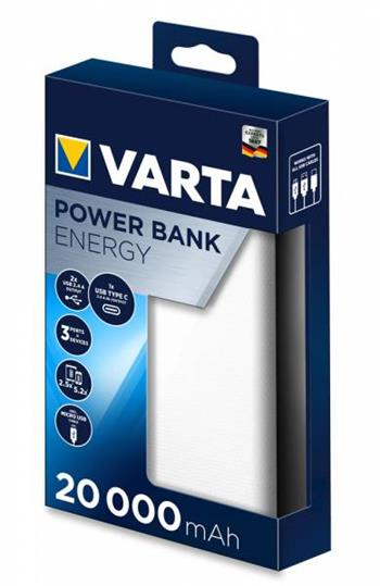 VARTA Power Bank Energy 20000mAh White
