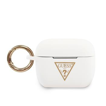 GUACAPLSTLWH Guess Triangle Silikonové Pouzdro pro Airpods Pro White