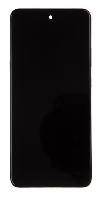 Motorola G 5G LCD Display + Dotyková Deska + Přední Kryt Silver (Service Pack)