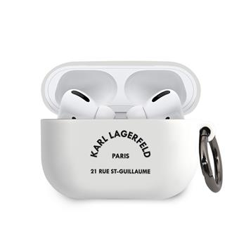 KLACAPSILRSGWH Karl Lagerfeld Rue St Guillaume Silikonové Pouzdro pro Airpods Pro White