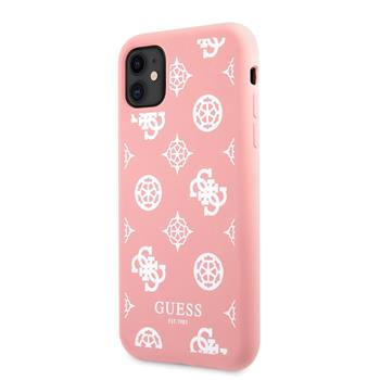 GUHCN61LSPEWPI Guess Liquid Silicone White Peony Zadní Kryt pro iPhone 11 Pink