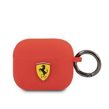 FEA3SILRE Ferrari Silikonové Pouzdro pro Airpods 3 Red